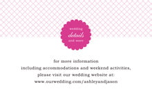custom enclosure cards - bright pink - luxe (set of 10)