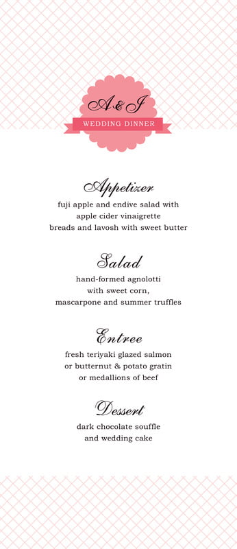 custom menus - grapefruit - luxe (set of 10)