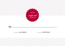 custom response cards - deep red - luxe (set of 10)