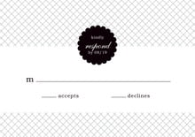 custom response cards - tuxedo - luxe (set of 10)