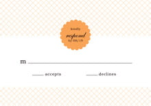 custom response cards - tangerine - luxe (set of 10)