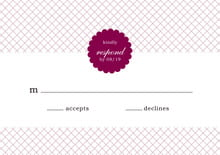 custom response cards - burgundy - luxe (set of 10)