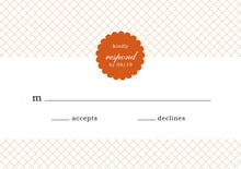 custom response cards - spice - luxe (set of 10)