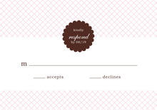 custom response cards - cocoa & pink - luxe (set of 10)
