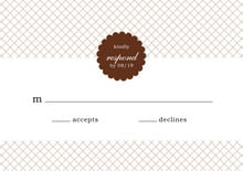 custom response cards - chocolate - luxe (set of 10)