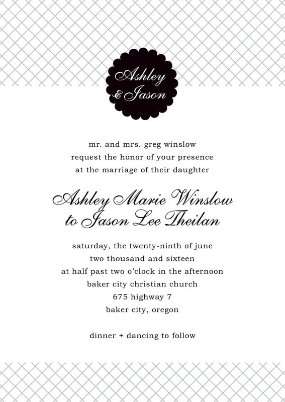 custom invitations - tuxedo - luxe (set of 10)