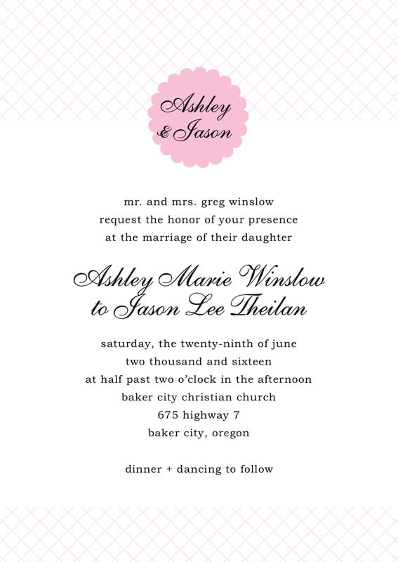 custom invitations - pale pink - luxe (set of 10)