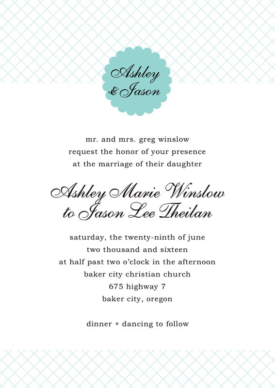 custom invitations - aruba - luxe (set of 10)