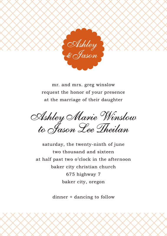 custom invitations - spice - luxe (set of 10)