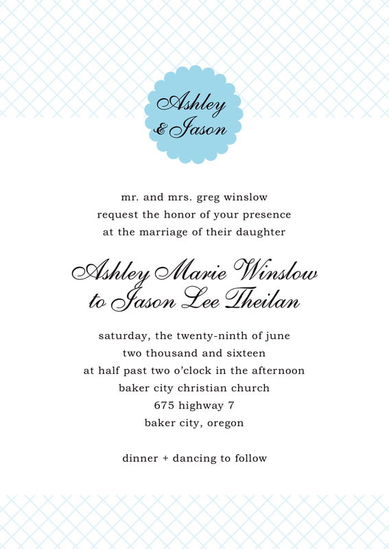 custom invitations - sky - luxe (set of 10)