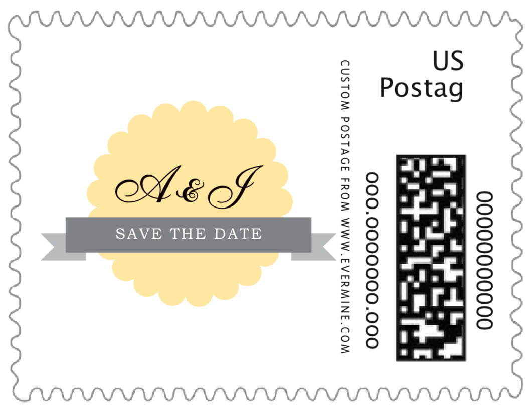 small custom postage stamps - sunburst - luxe (set of 20)