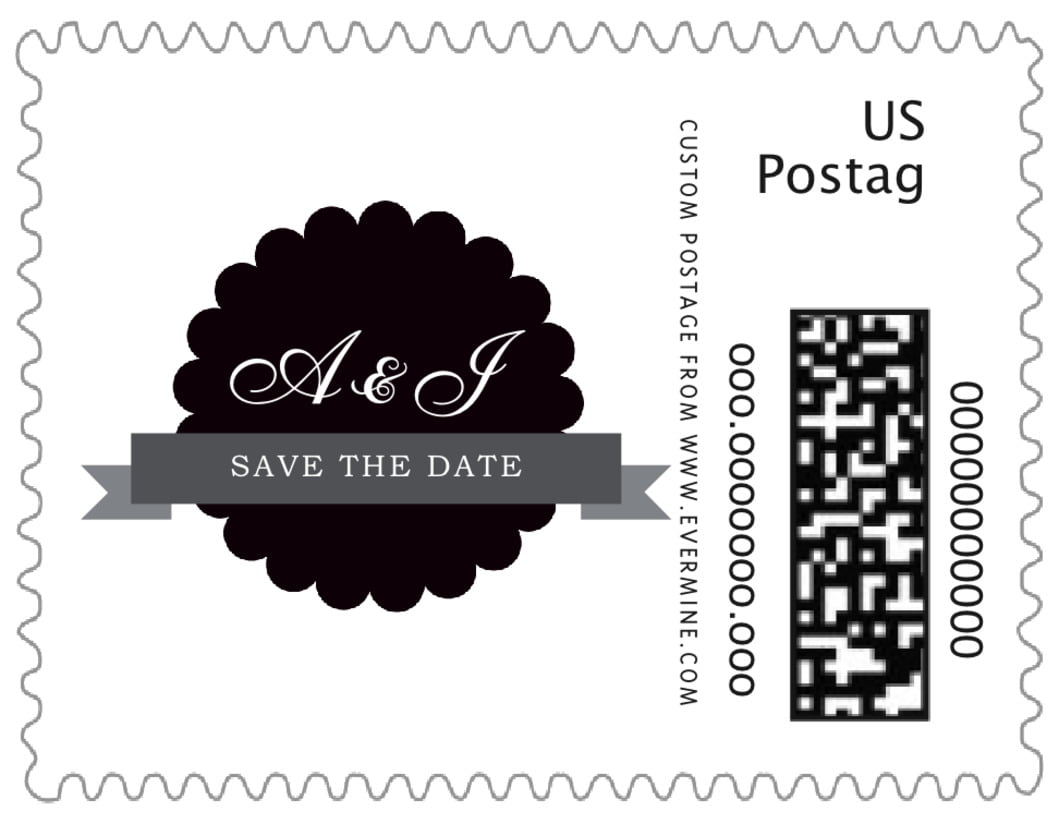 small custom postage stamps - tuxedo - luxe (set of 20)