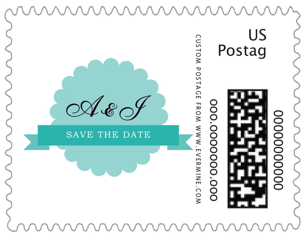 small custom postage stamps - aruba - luxe (set of 20)