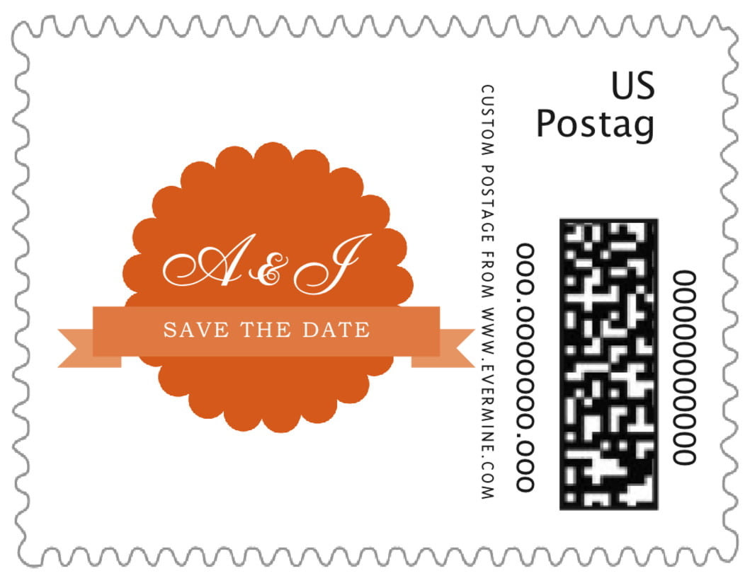 small custom postage stamps - spice - luxe (set of 20)