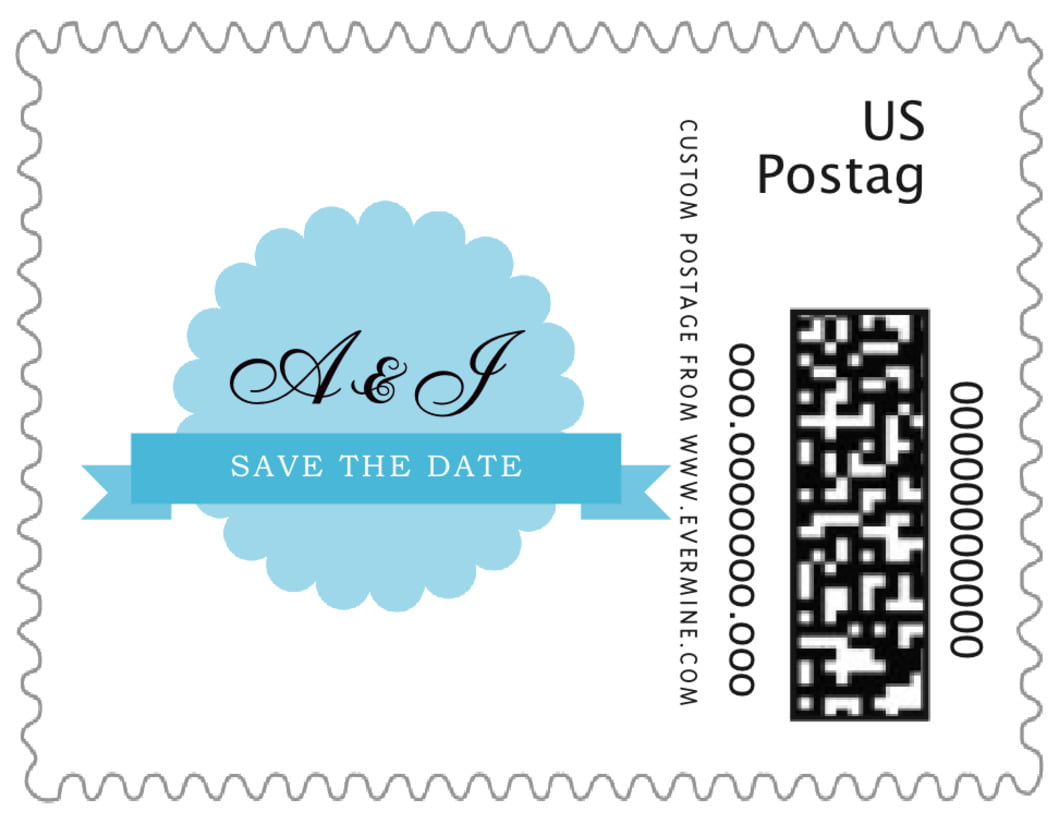 small custom postage stamps - sky - luxe (set of 20)