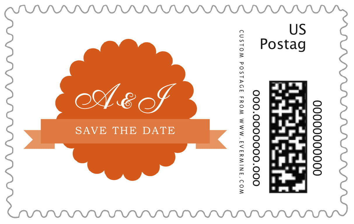 custom large postage stamps - spice - luxe (set of 20)