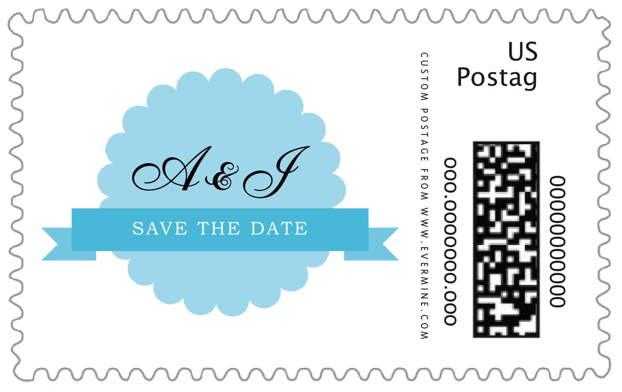 custom large postage stamps - sky - luxe (set of 20)