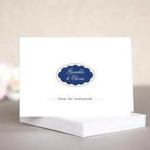 Luxe anniversary note cards