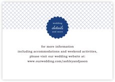 Luxe wedding enclosure cards
