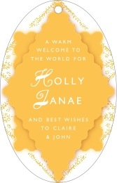 Love large oval hang tags