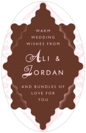 Love tall oval labels