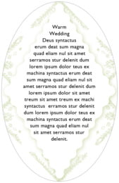 Love oval text labels