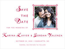 custom save-the-date cards - deep red - love (set of 10)