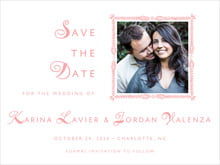 custom save-the-date cards - grapefruit - love (set of 10)