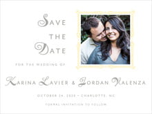 custom save-the-date cards - sunflower - love (set of 10)
