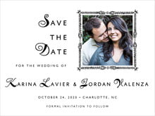 custom save-the-date cards - tuxedo - love (set of 10)