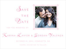 custom save-the-date cards - pale pink - love (set of 10)