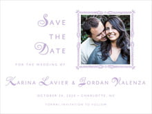 custom save-the-date cards - lilac - love (set of 10)