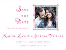 custom save-the-date cards - bright pink - love (set of 10)