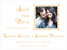 custom save-the-date cards - melon - love (set of 10)