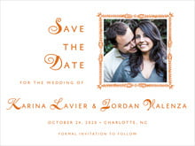custom save-the-date cards - spice - love (set of 10)