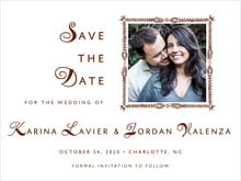 custom save-the-date cards - chocolate - love (set of 10)
