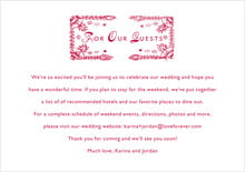 custom enclosure cards - deep red - love (set of 10)