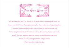 custom enclosure cards - bright pink - love (set of 10)
