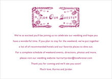 custom enclosure cards - burgundy - love (set of 10)