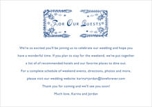 custom enclosure cards - deep blue - love (set of 10)
