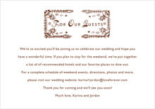 custom enclosure cards - chocolate - love (set of 10)