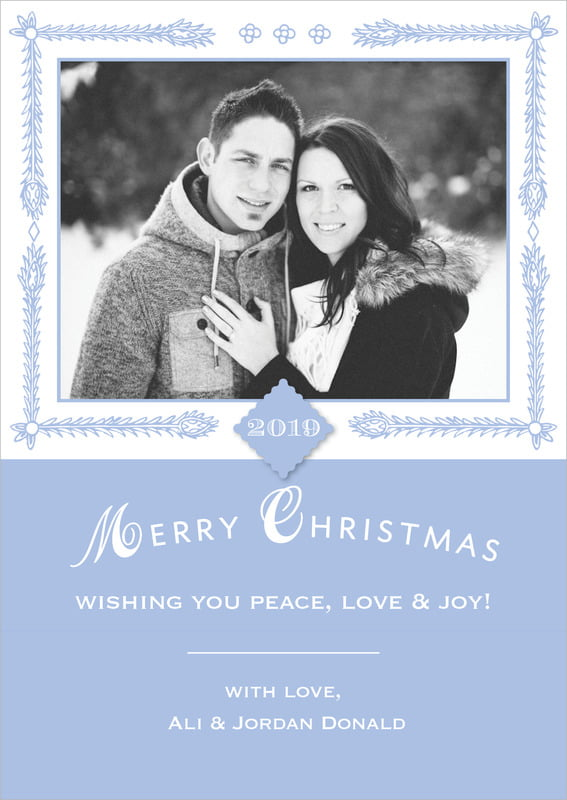 holiday cards - periwinkle - love (set of 10)