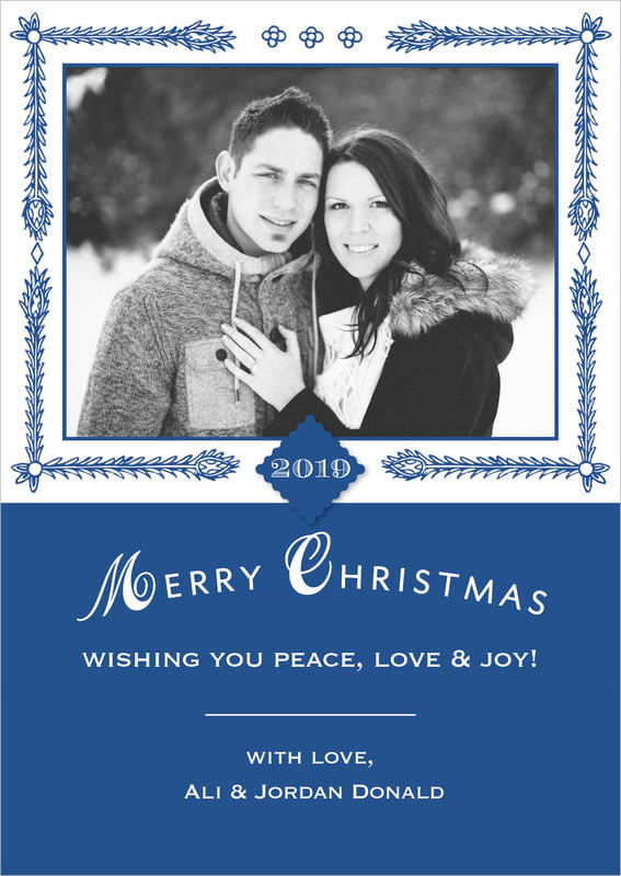 holiday cards - deep blue - love (set of 10)