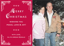 holiday cards - deep red - love (set of 10)