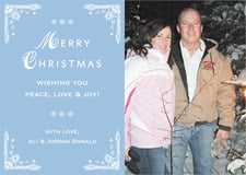 holiday cards - blue - love (set of 10)