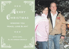 holiday cards - sage - love (set of 10)