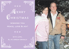 holiday cards - lilac - love (set of 10)