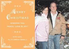 holiday cards - melon - love (set of 10)