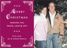 holiday cards - burgundy - love (set of 10)