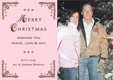 holiday cards - cocoa & pink - love (set of 10)